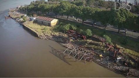 Imagen del puerto Rosario, que está abandonado en Argentina. Foto: Diputados Socialistas
