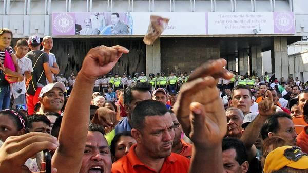 Las protestas en Venezuela. (AFP)