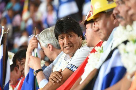 El presidente Evo Morales participa del congreso del MAS-IPSP en Montero, Santa Cruz. Foto: ABI