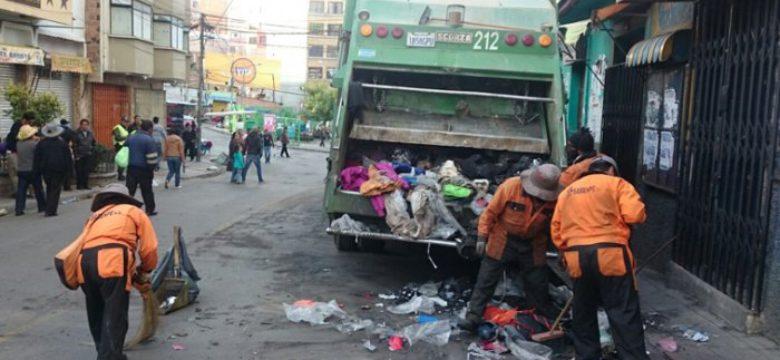 Recojo de basura en la ciudad de La Paz. (Archivo)