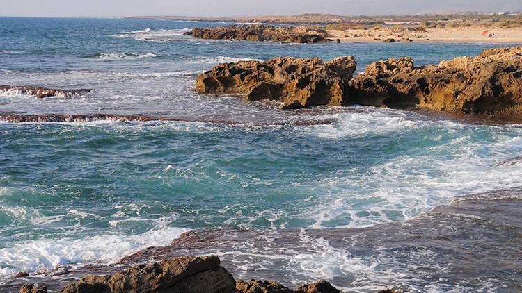 La costa de Tel Dor, en Israel