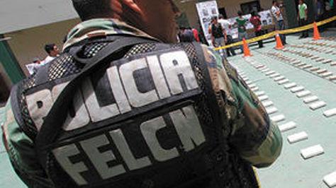 Un agente de la FELCN en un operativo pasado en Santa Cruz. Foto: APG - archivo