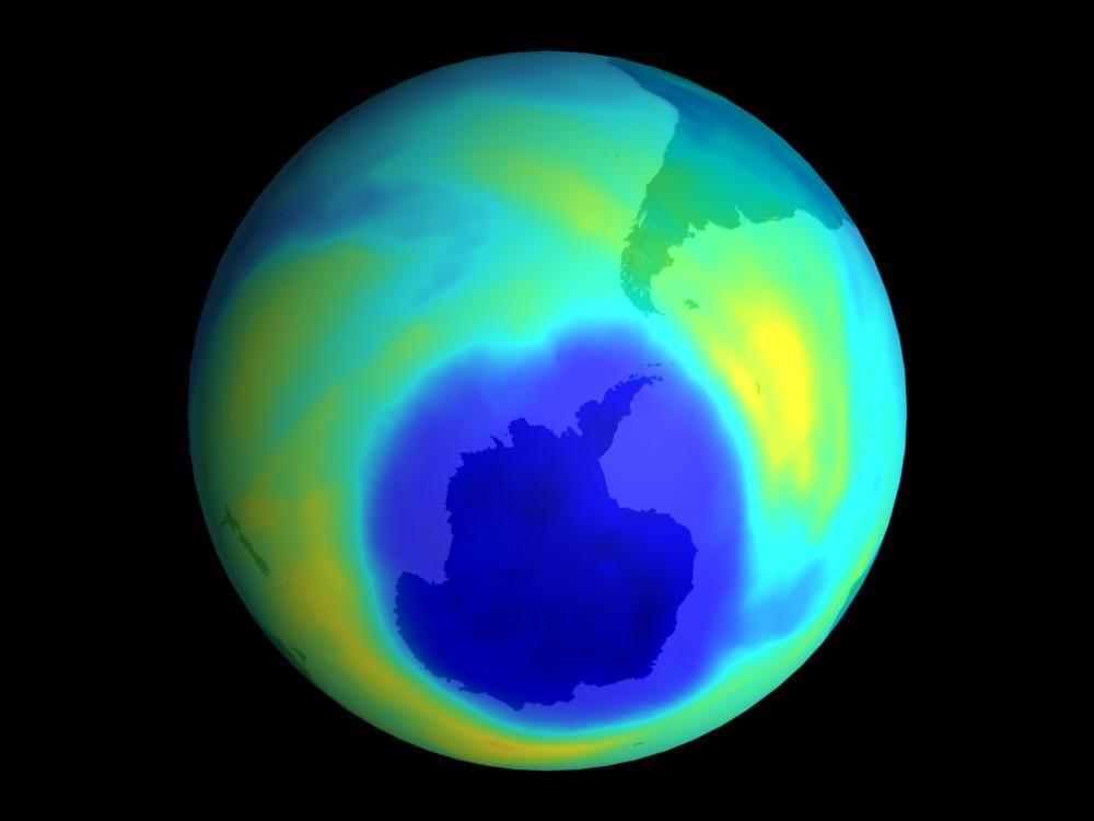 Reducción del agujero de la capa de ozono