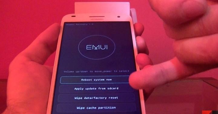 Instalación de firmware de smartphone Huawei mediante recovery
