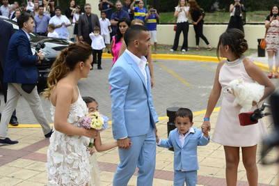 Se casaron Carlos Tevez y Vanesa Mansilla. Foto: David Fernández