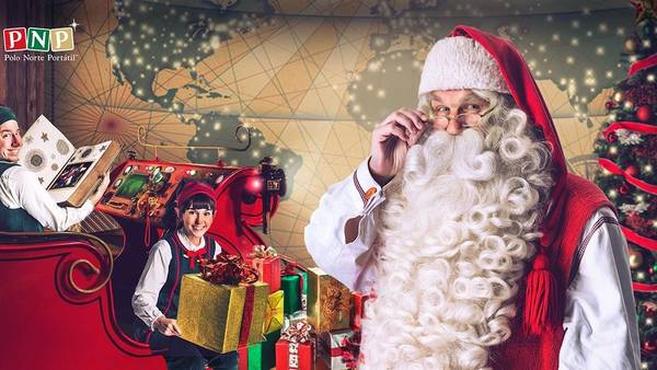 Papá Noel en el celular.