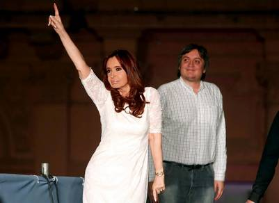 Cristina y Máximo Foto REUTERS