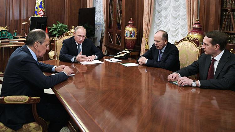 Una reunión del Consejo de Seguridad de Rusia