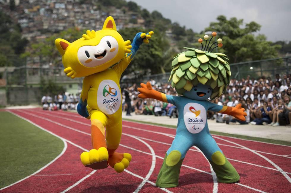 Tom y Vinicius, las mascotas de Rio 2016.