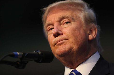 El candidato presidencial republicano, Donald Trump habla durante su acto de campaña en La Florida hoy, 10 de agosto de 2016. Foto: AFP