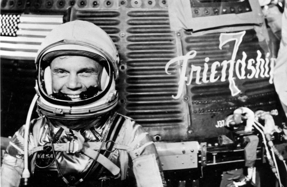 John Glenn, antes de embarcarse en el Mercury Atlas 6 en 1962. (Nasa/Reuters)