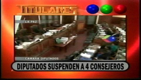 Titulares de TV: Suspenden a 4 consejeros de la Magistratura
