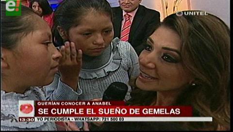 Anabel Angus cumple el sueño de gemelas en La Paz