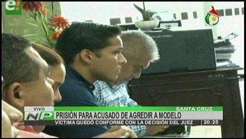 A Palmasola acusado de agredir a modelo
