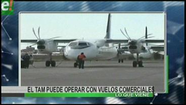 Titulares de TV: TAM puede operar con vuelos comerciales