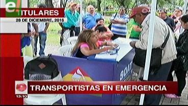 Titulares de TV: Transportistas en emergencia se reunirán con la APS para buscar solución a la falta de Soat