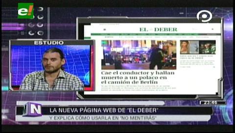 Diario El Deber estrena nueva página web