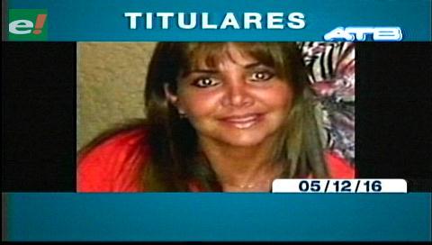 Titulares de TV: Celia Castedo, solicita refugio en Mato grosso