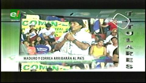 Titulares de TV: Presidentes Maduro y Correa llegarán al país el 18 de diciembre