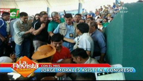 Congreso del MAS: Mario Cronenbold y Jorge Morales siguieron de cerca a Evo