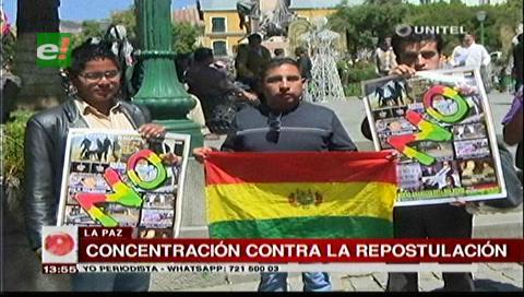 La Paz: Convocan a una concentración en rechazo a la repostulación de Evo Morales