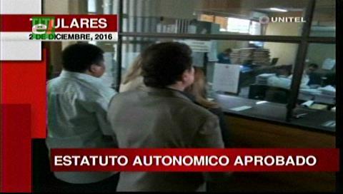 Titulares TV: ALD debe corregir los artículos observados por el TCP de los estatutos autonómicos