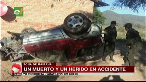 Mairana: Un muerto y un herido en accidente de tránsito
