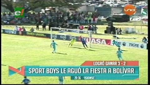 Sport Boys 3-2 Bolívar: El Toro se hace respetar y el título espera