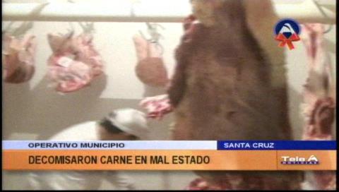 Municipio cruceño decomisa 46 kilos de carne en mal estado