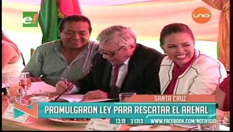 Promulgan Ley de recuperación del parque El Arenal