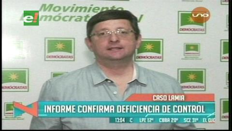 Senador Ortiz: Informe sobre el caso LaMia confirma la deficiencia de control en el país