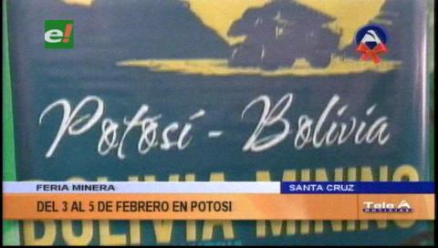 Presentan feria internacional minera que se realizará en Potosí en febrero