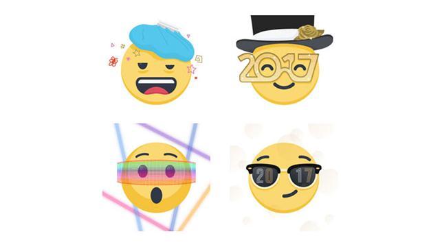 Los emojis también estarán a tono con la llegada de 2017 en Facebook