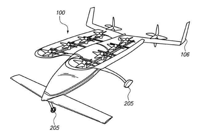 Coche volador de Google