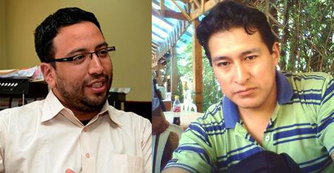 El viceministro de Justicia, Diego Jiménez, y el viceministro de Justicia Indígena, Gilvio Janayo.