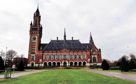 Holanda. La sede de la Corte Internacional de Justicia (CIJ) ubicada en el Palacio de la Paz de La Haya.