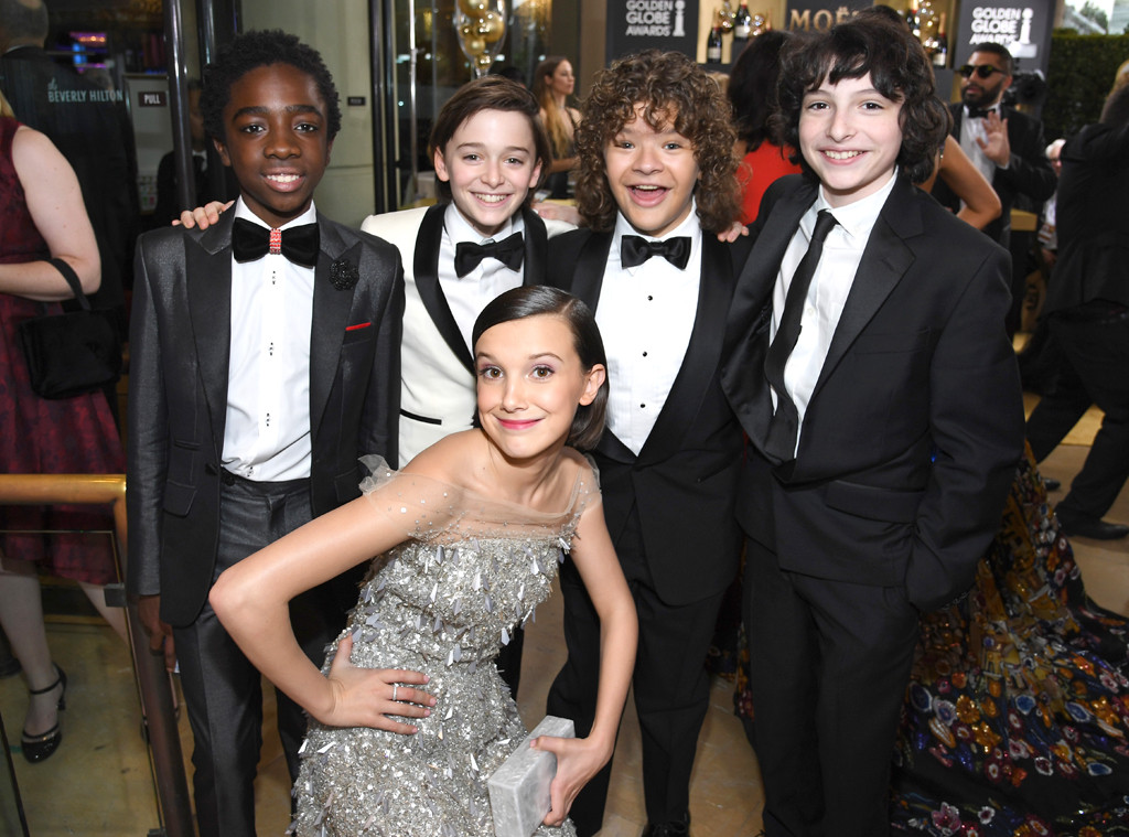 Stranger Things Kids, 2017 Golden Globes, Candids