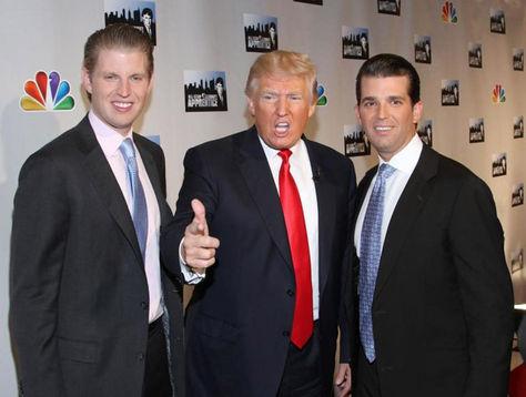 Donald Trump (centro) junto a sus dos hijos. Foto: DiarioPuntual