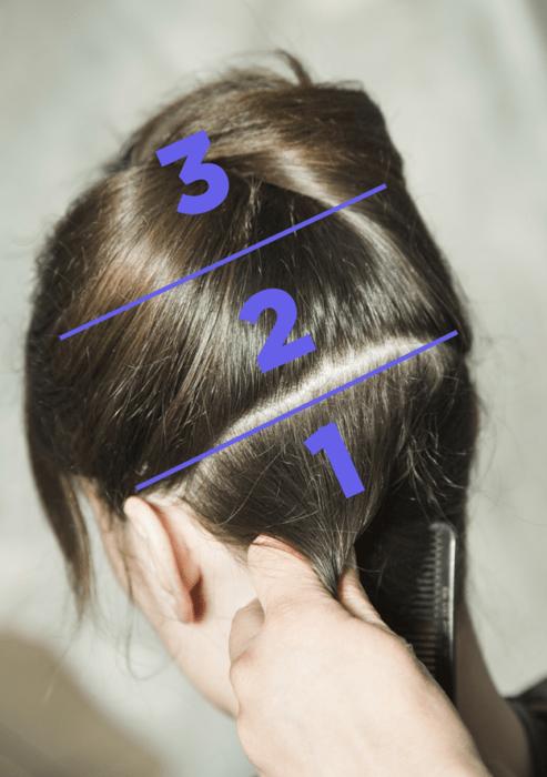 cabello seccionado
