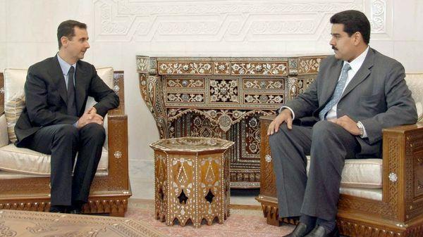 Bashar al Assad y Nicolás Maduro volvieron a respaldarse, pese a las graves crisis que sufren sus países