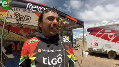 Chavo Salvatierra da el zarpazo en la cuarta etapa del Dakar