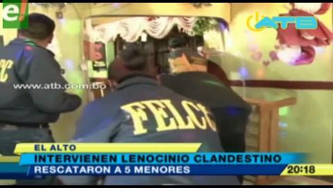 Rescataron 5 menores de un lenocinio en El Alto