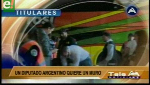 Video titulares de noticias de TV – Bolivia, noche del lunes 30 de enero de 2017
