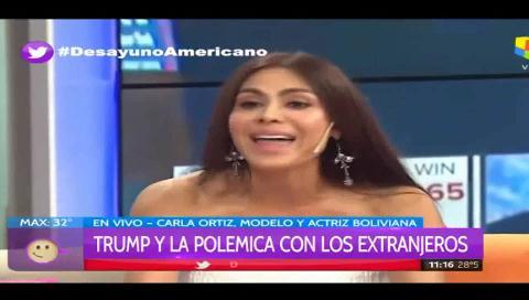 La actriz boliviana Carla Ortiz confiesa que votó por Donald Trump y explica el porqué