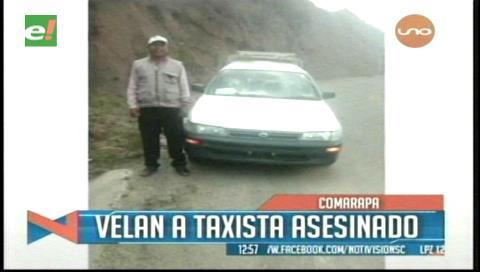 Comarapa: Pobladores piden esclarecer el caso del asesinato de un taxista