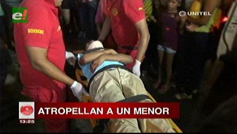 Santa Cruz: Menor es atropellado frente al Cine Center