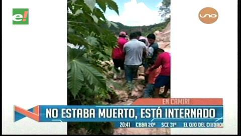 Camiri: Hallan herido a un joven que estuvo dos días desaparecido
