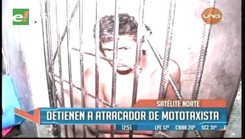Satélite Norte: Detienen a atracador de mototaxista