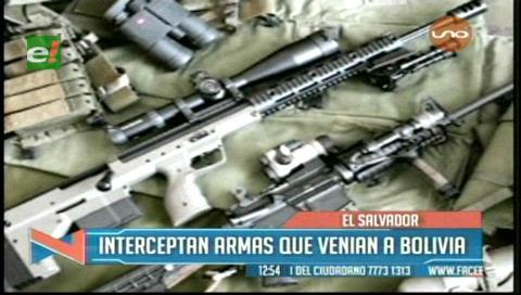 Interceptan en El Salvador un paquete con armas con destino a Bolivia