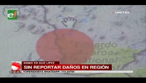 Un sismo de 5.7 grados se registró en el Sud Lípez en la frontera con Chile